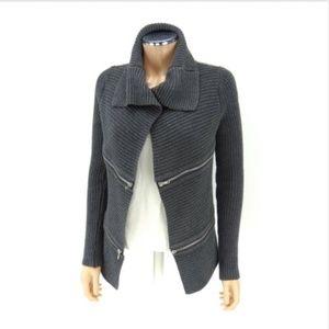 ROCK & REPUBLIC knit cardigan sweater zippers XS